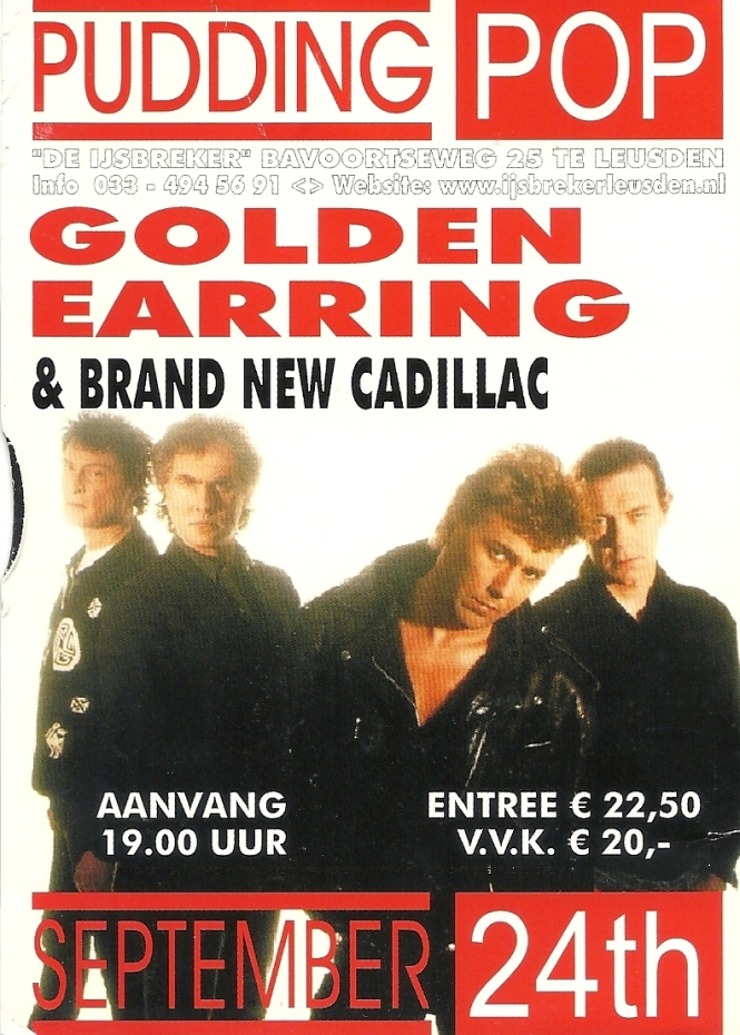 Golden earring website